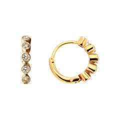 Diamond Gold Hoop Earrings