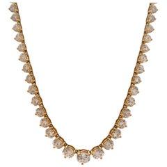 Diamond Gold Line Necklace