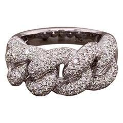 Diamond Gold Link Band Ring