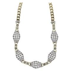 Diamond Gold-Link Choker Necklace