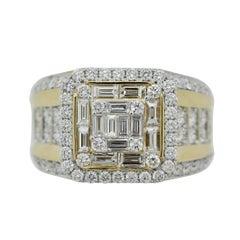 Diamond Gold Men's Ring