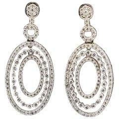 Diamond Gold Multi-Drop Earrings