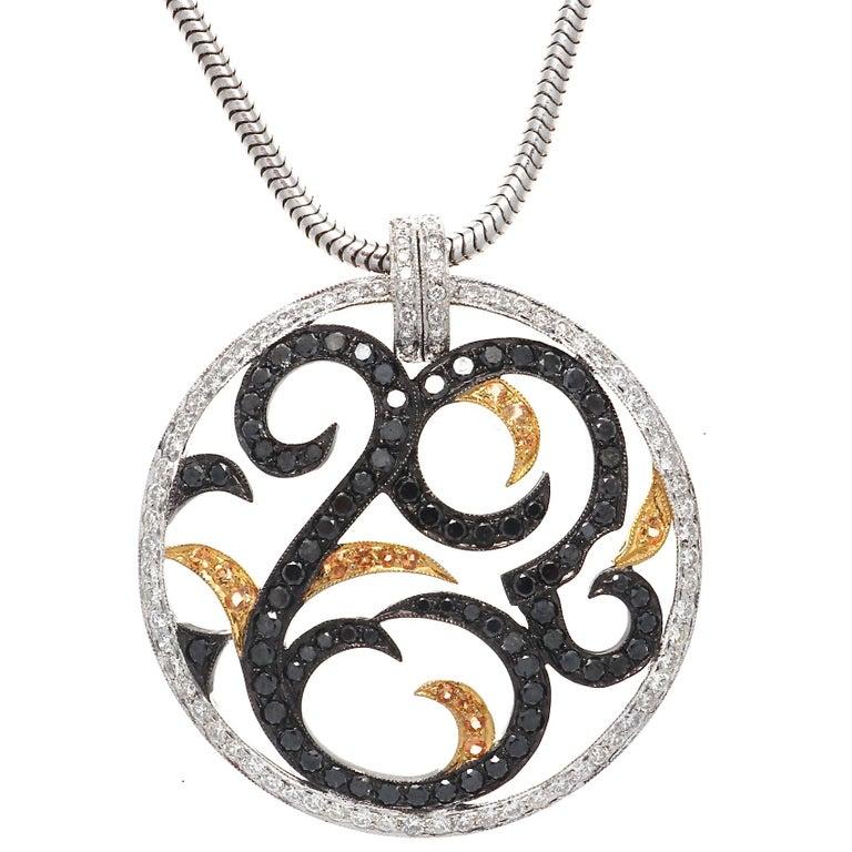 Contemporary Diamond Gold Necklace