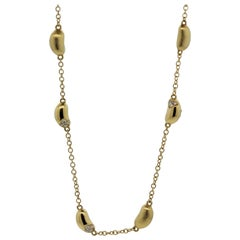 Diamond Gold Nugget Chain Necklace