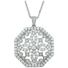 Diamond Gold Octagon Pendant