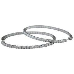 Diamond Gold Oval Hoop Earrings