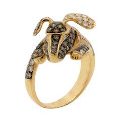 "Diamond Gold ""Puppy-Dog"" Ring"