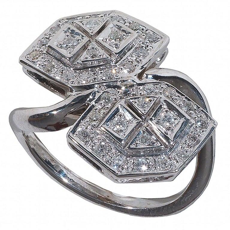 Modern Diamond Gold Ring For Sale