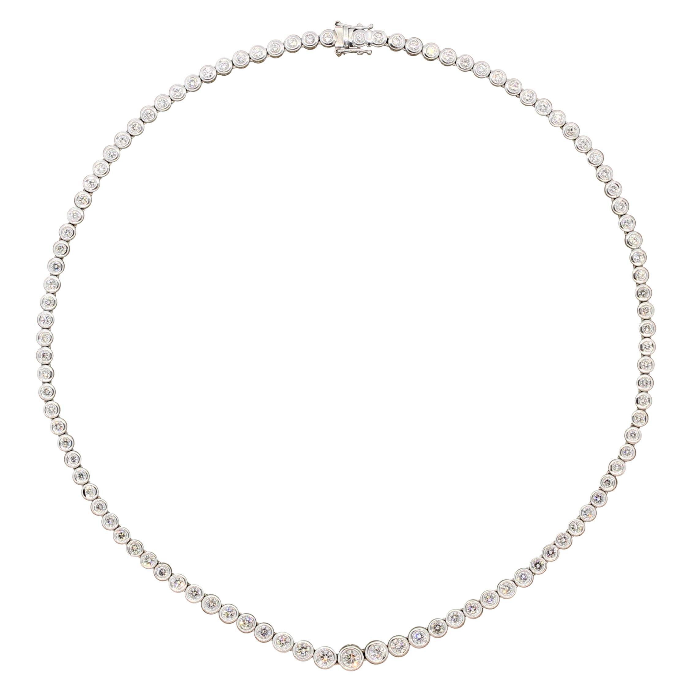 Diamond Gold Riviera Eternity Necklace