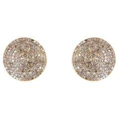 Diamond Gold Silver Earring