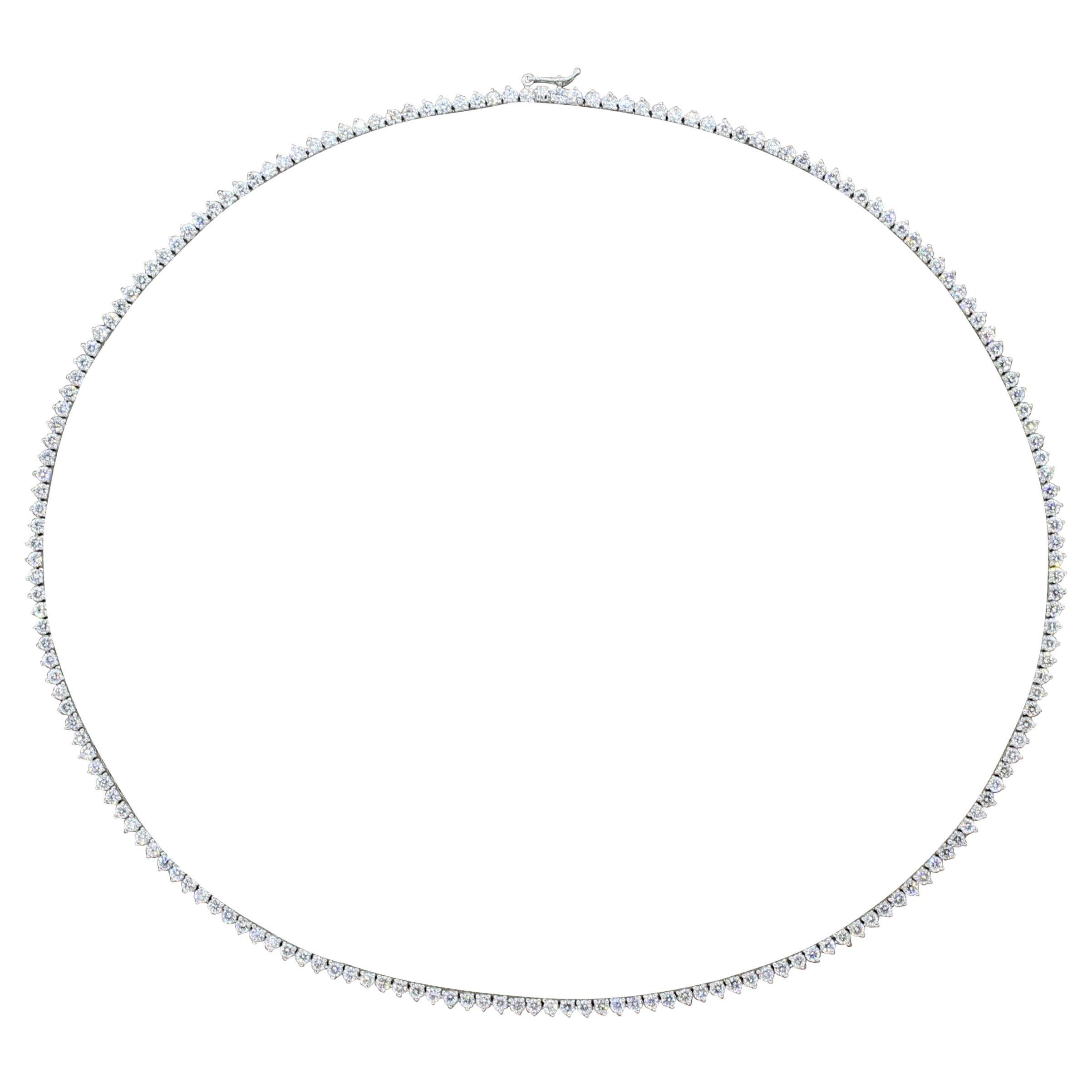 Diamond Gold Tennis Necklace