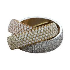 Diamond Gold Trinity Band Ring