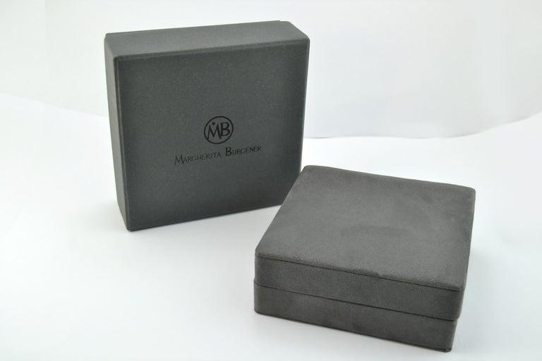 Women's or Men's Diamond Green Titanium Gold Cufflinks Handcrafted by Margherita Burgener  For Sale
