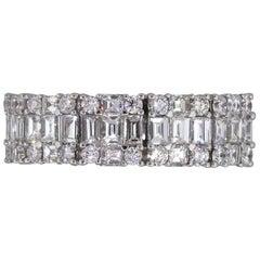 Diamond Halfway Wide Wedding Band