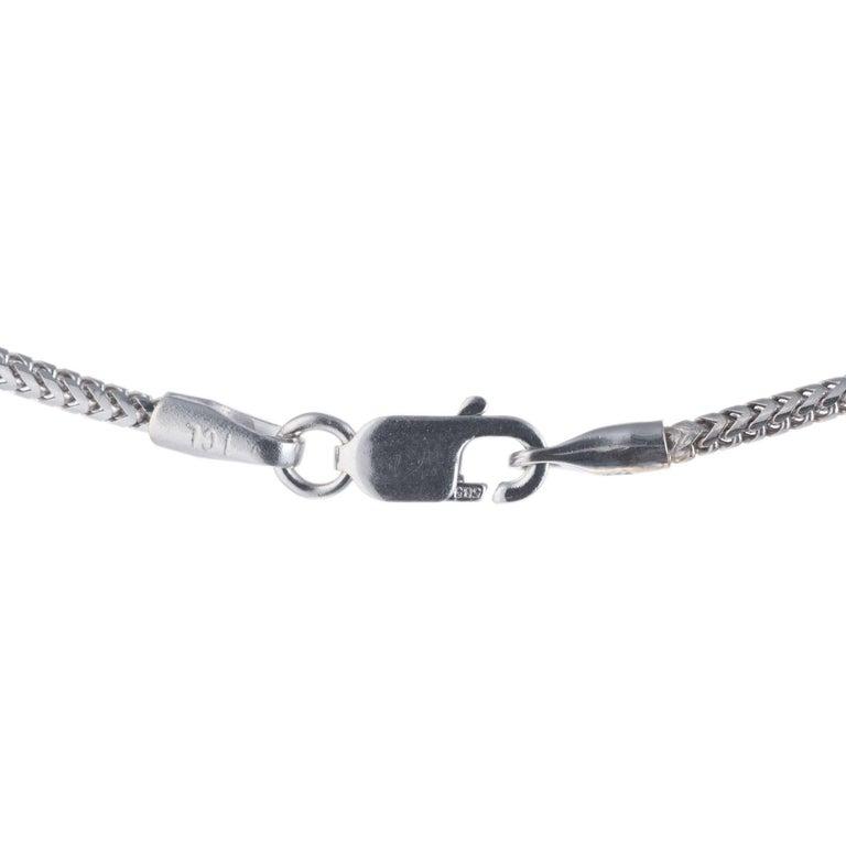 Women's Diamond Halo Slide White Gold Pendant Necklace For Sale