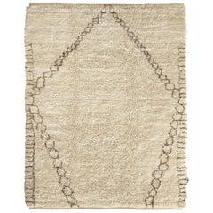 Diamant Handgewebter Marokkanischer Berber Wollteppich, Traditioneller Stil