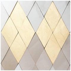 Diamond Handcrafted Glazed Bespoke Ceramic Tiles by Studio Sors