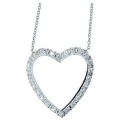 Diamond Heart Motif Necklace