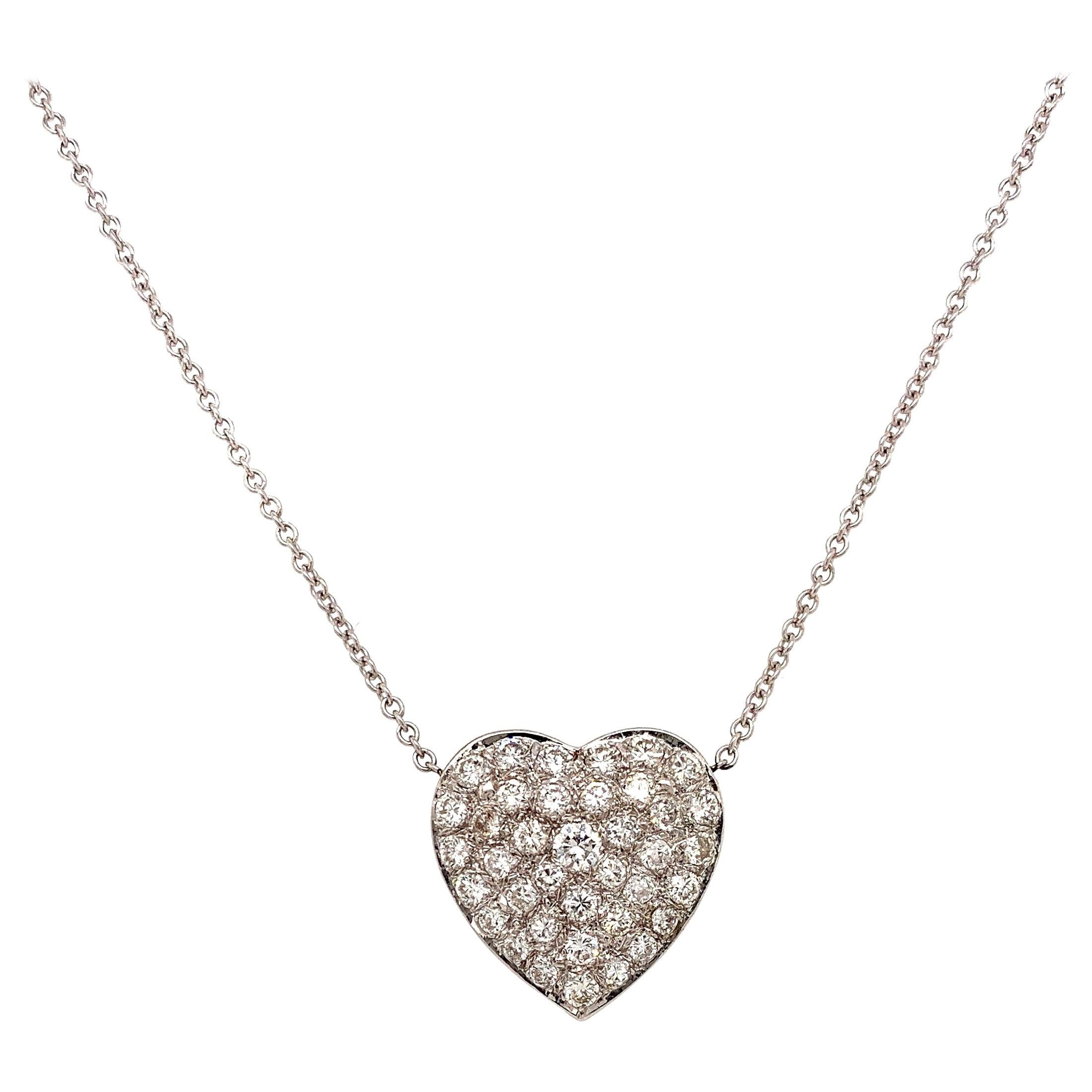 Diamond Heart Shape Pendant Necklace