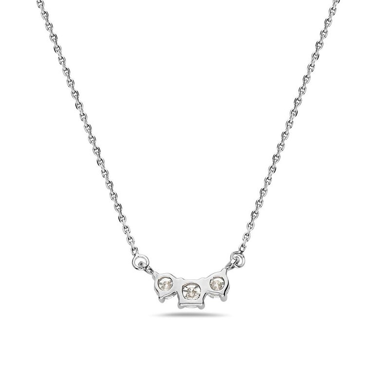 Modern Diamond Horizontal Pendant Gold Necklace For Sale