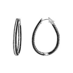 Diamond Hoop Earrings in 18 Karat White Gold