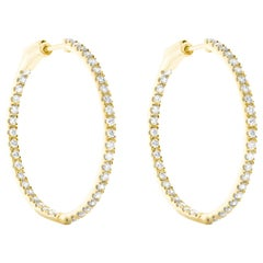 Diamond Hoop Earrings in 18 Karat Yellow Gold by Allison Bryan