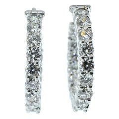 Diamond Hoop Style Earrings