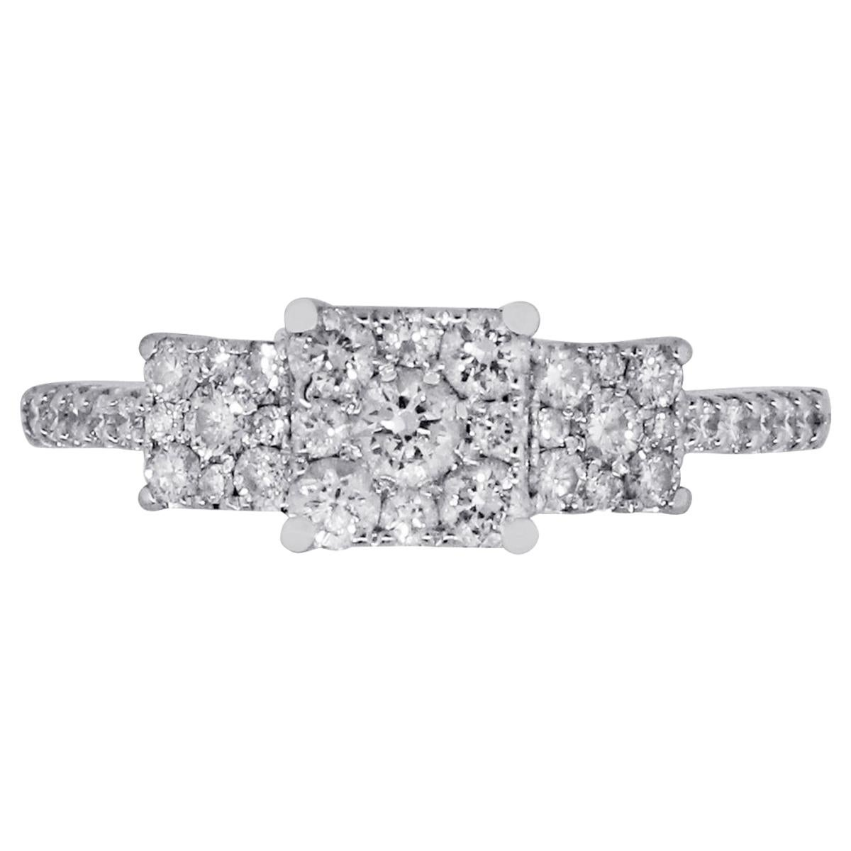 Diamond Illusion Style Engagement Ring