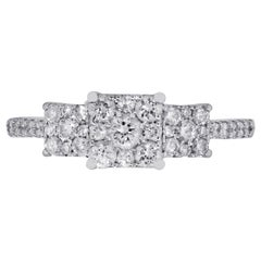 Diamond Illusion Style Engagement Ring