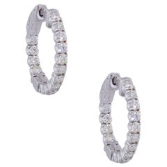 Diamond In and Out Hoop Earrings