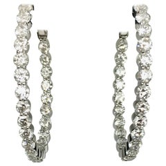 Diamond Inside Out Hoop Earrings 6 Carat
