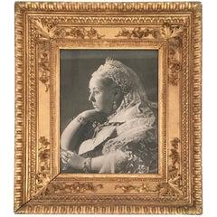 Diamond Jubilee Portrait of Queen Victoria in Antique Giltwood Frame