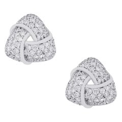 Diamond Knot Earrings