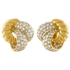 Diamant Knoten Ohrringe