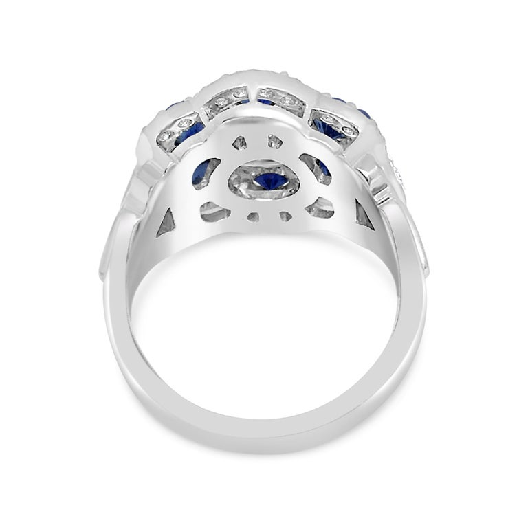 Diamond Lace Sapphire Ring In New Condition For Sale In Aspen, CO