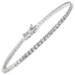 Diamond Line Bracelet, 2.50 Carat