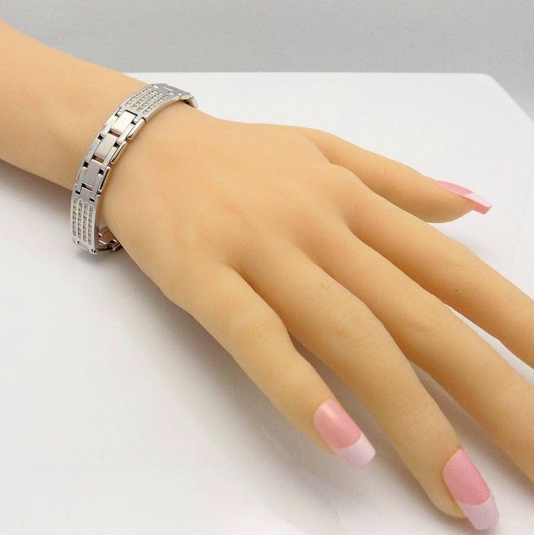 Round Cut Diamond Line Bracelet For Sale