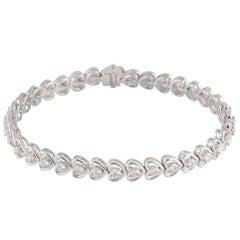 Diamond Line Heart Shaped Bracelet 1.97 Carat