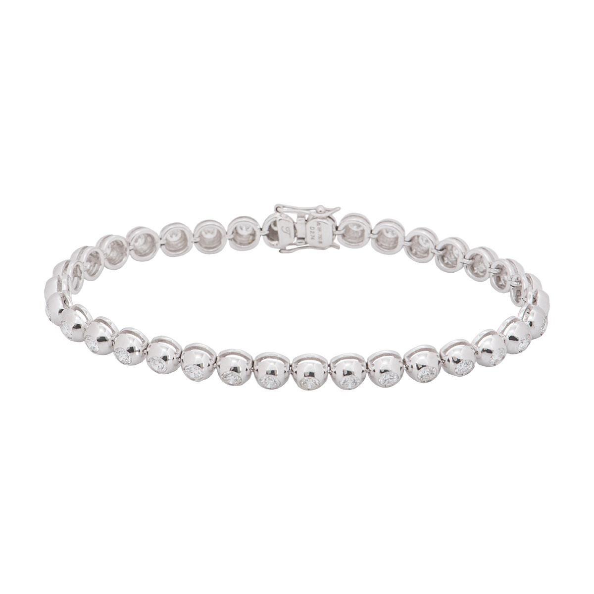 Diamond Line Tennis Bracelet 2.74 Carat