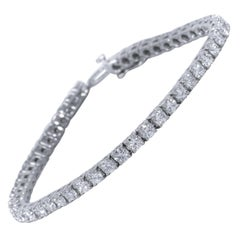Diamond Line Tennis Bracelet, 7.03 Carat Total
