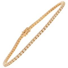 Diamond Line / Tennis Bracelet Set in 18 Karat Rose Gold