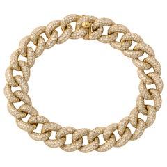 Diamond Link Bracelet Yellow Gold