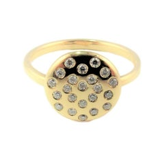 DIAMOND LOVE  on Planet 22 Natural Diamond Yellow Gold Ring