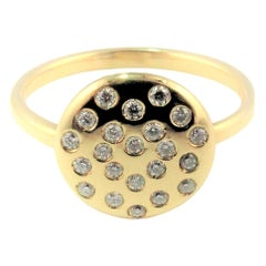 Diamond Love Yellow Gold Ring with Magic Diamond Message of Love