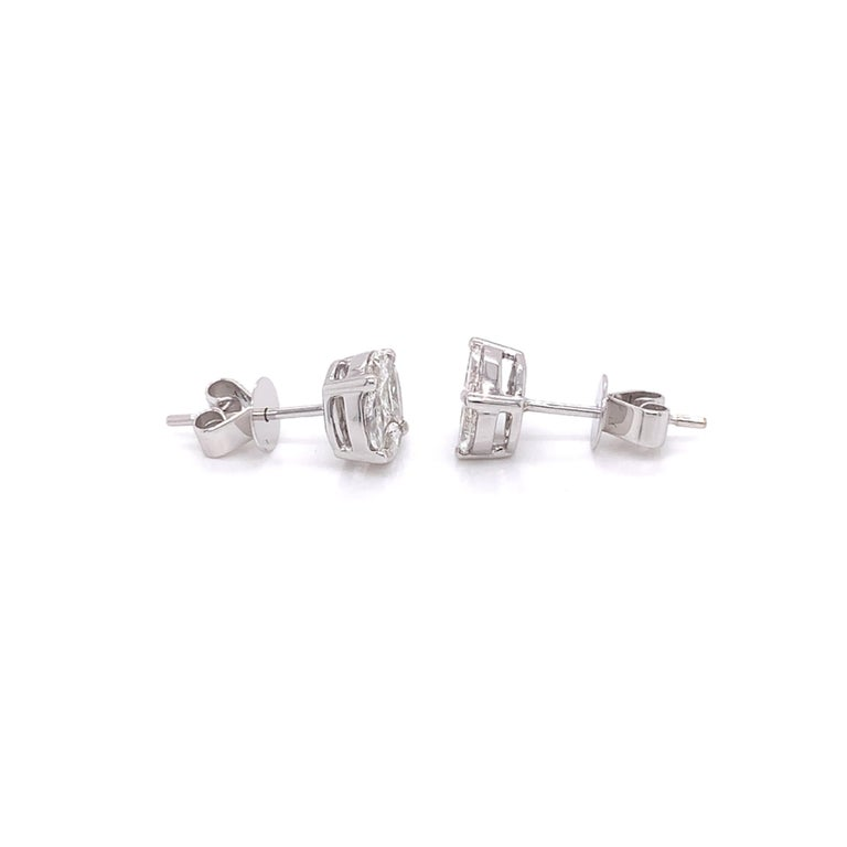 Marquise Cut Marquis Diamond Stud Earrings For Sale