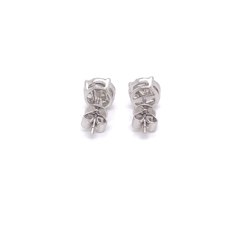 Marquis Diamond Stud Earrings In New Condition For Sale In Miami, FL