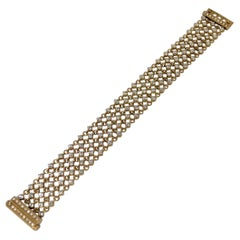 Diamond Mesh Link Bracelet with 8.12 Carats Set in 18k Yellow Gold