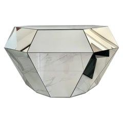 """Diamond """"Mirror"""" Sideboard, Handmade, Cabinet with Double Push&Pull Front Drawer"""