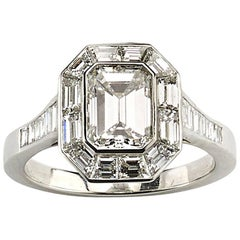 Diamond Mitre Set Ring, 1.70 Carat