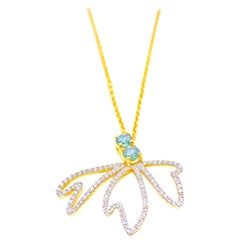 Diamond Moth Necklace